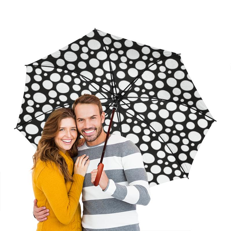 Зонт-трость двусторонний с деревянной ручкой Printio Долматинец зонт трость двусторонний с деревянной ручкой printio райский сад