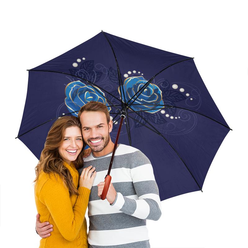 Зонт-трость двусторонний с деревянной ручкой Printio Цветы зонт трость с деревянной ручкой printio цветы орхидеи цветочная фантазия
