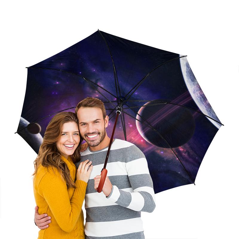 Зонт-трость двусторонний с деревянной ручкой Printio Космос зонт трость с деревянной ручкой printio космос