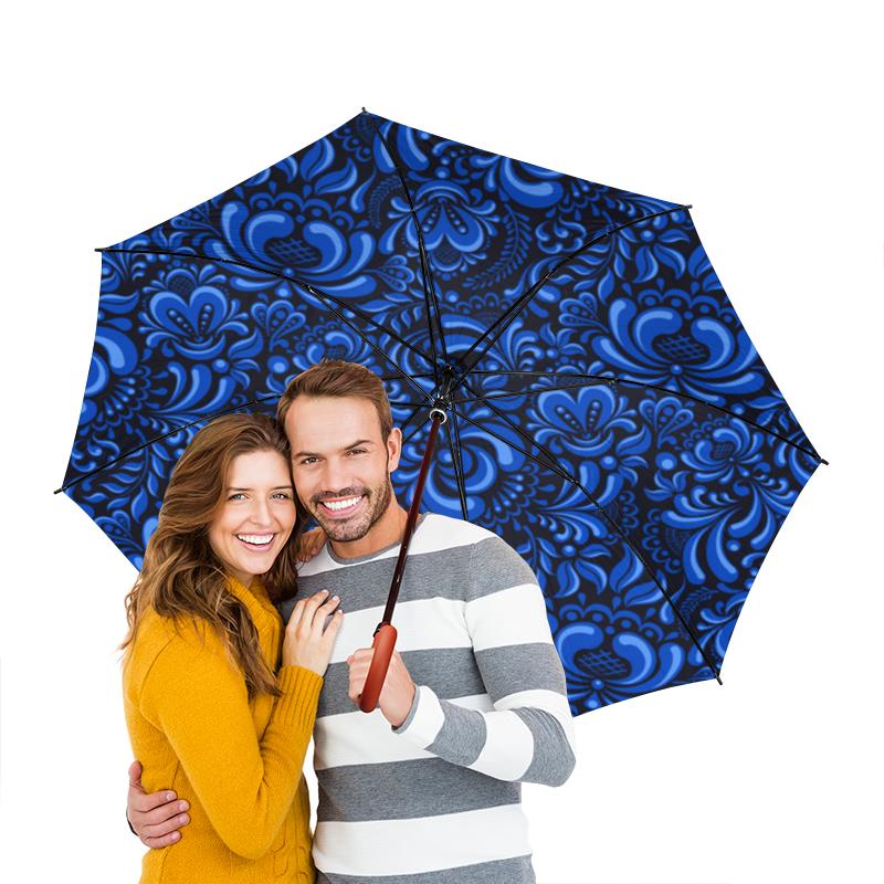Зонт-трость двусторонний с деревянной ручкой Printio Роспись зонт трость двусторонний с деревянной ручкой printio кольца