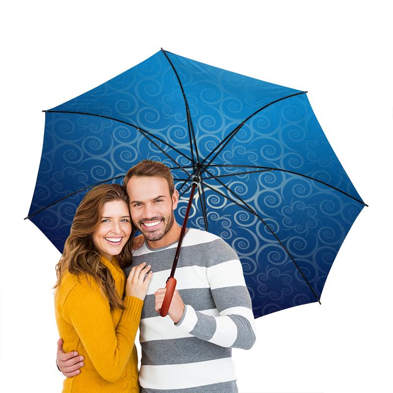 Зонт-трость двусторонний с деревянной ручкой Printio Узорный зонт трость двусторонний с деревянной ручкой printio голубой узор