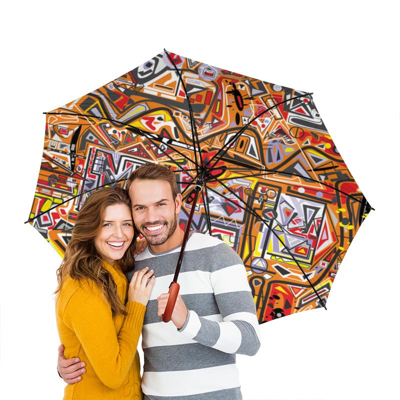 Фото - Зонт-трость двусторонний с деревянной ручкой Printio Оранжевый дом. зонт трость двусторонний с деревянной ручкой printio сандал