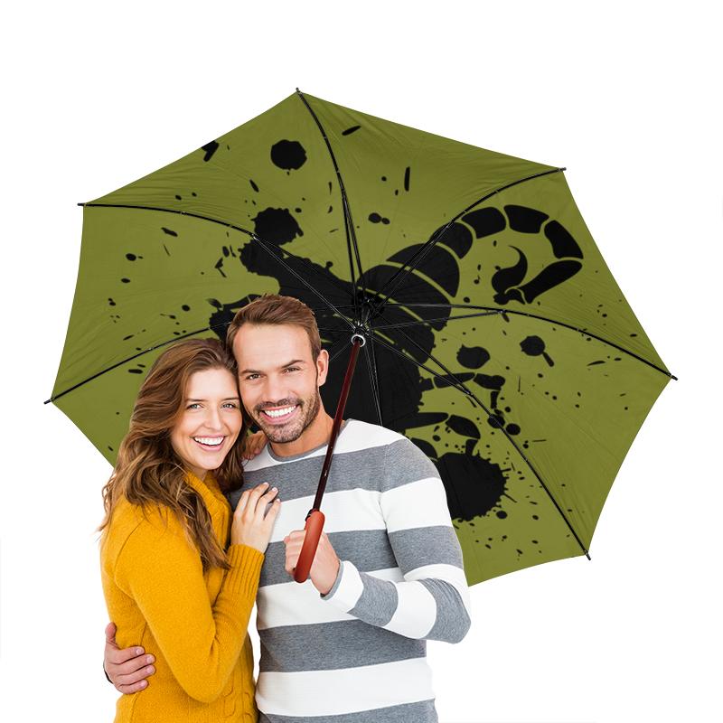 Зонт-трость двусторонний с деревянной ручкой Printio Скорпион (24.10-21.11) зонт трость с деревянной ручкой printio скорпион 24 10 21 11