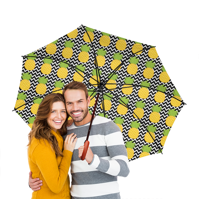 Зонт-трость двусторонний с деревянной ручкой Printio Ананасы зонт трость двусторонний с деревянной ручкой printio индийский огурец