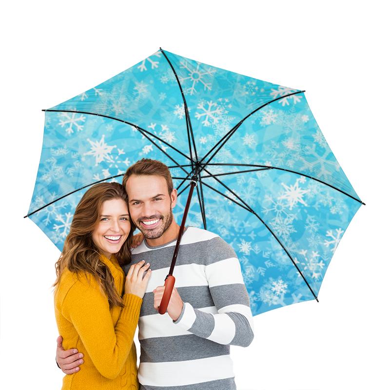 Зонт-трость двусторонний с деревянной ручкой Printio Зима зонт трость двусторонний с деревянной ручкой printio райский сад