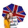 """Зонт-трость двусторонний с деревянной ручкой """"British Design"""" - англия, флаг, символика, британия, великобритания"""