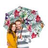 """Зонт-трость двусторонний с деревянной ручкой """"Тропические цветы"""" - милый, лето, пальма, орхидея, женственно"""