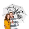 """Зонт-трость двусторонний с деревянной ручкой """"Любовь"""" - деньвсехвлюбленных"""