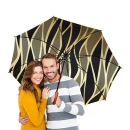 """Зонт-трость двусторонний с деревянной ручкой """"Абстракция"""" - абстракция"""