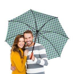 """Зонт-трость двусторонний с деревянной ручкой """"Сливы"""" - рисунок, природа, растения"""