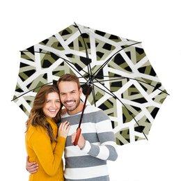 """Зонт-трость двусторонний с деревянной ручкой """"Empty"""" - дождь, ветер, камуфляж, зной, camo"""