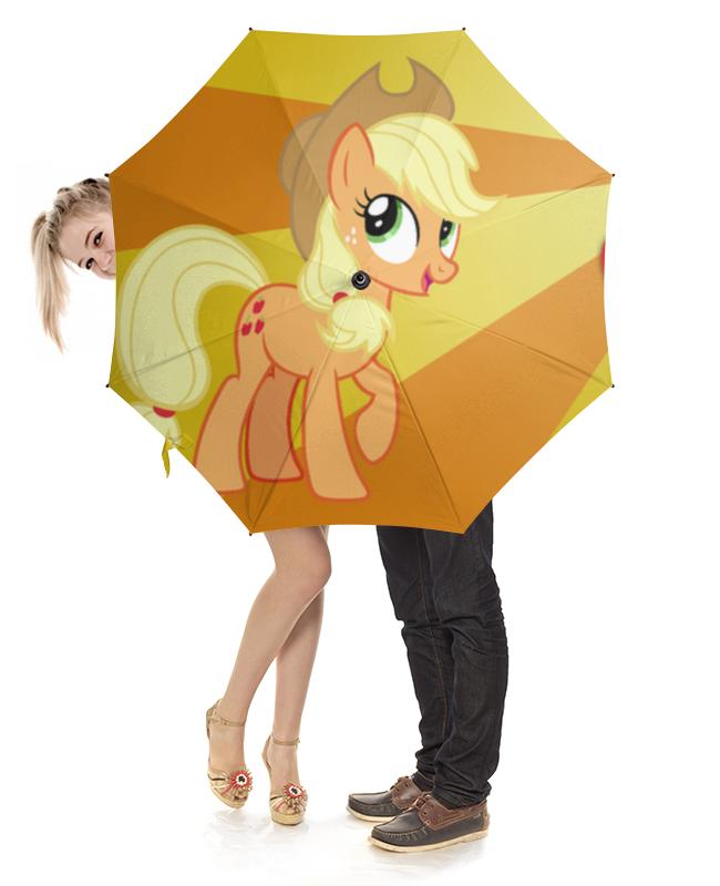 Зонт-трость с деревянной ручкой Printio Applejack color line techni lux tl blacklight18