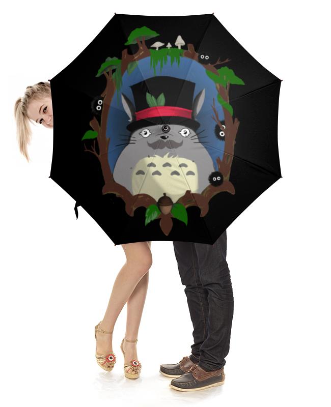 Зонт-трость с деревянной ручкой Printio Тоторо зонт трость с деревянной ручкой printio карта звездного неба