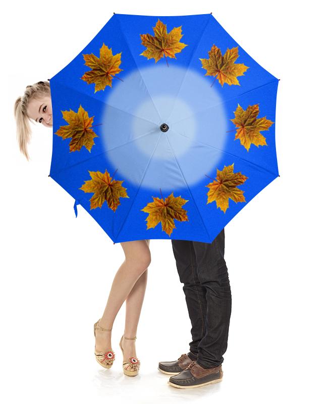 Зонт-трость с деревянной ручкой Printio Кленовые листья набор для творчества tukzar декоративные элементы кленовые листья eva пакет 18 5 12см 8шт 4 цве