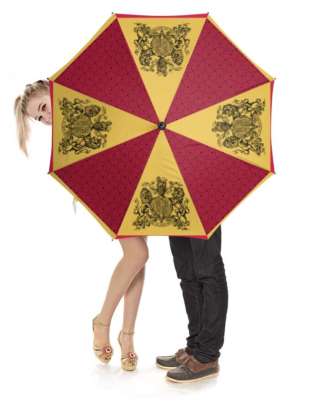 Зонт-трость с деревянной ручкой Printio Под защитой английской короны зонт eleganzza зонт