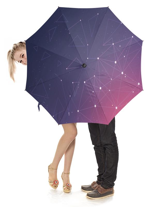Зонт-трость с деревянной ручкой Printio Звездное небо
