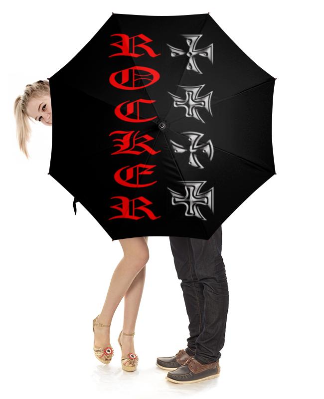 Зонт-трость с деревянной ручкой Printio Рокер бокс qanba q4 s3 saw все три и белые аркадные игры рокер