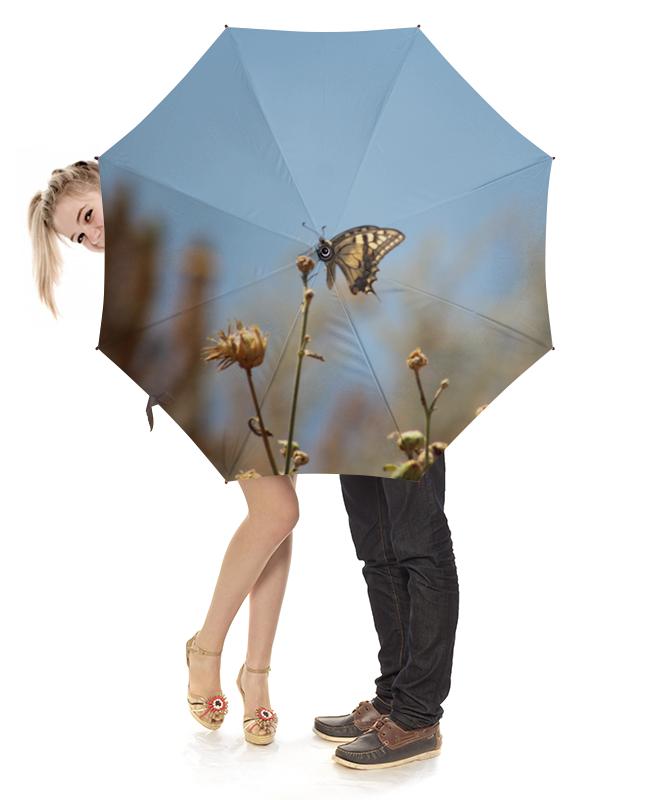 Зонт-трость с деревянной ручкой Printio Бабочка махаон лонгслив printio крым россия