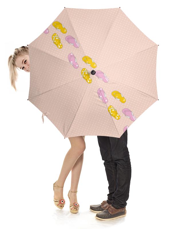 Зонт-трость с деревянной ручкой Printio Сланцы