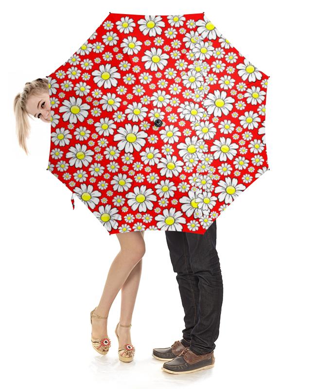 Зонт-трость с деревянной ручкой Printio Ромашки!!! зонт eleganzza зонт