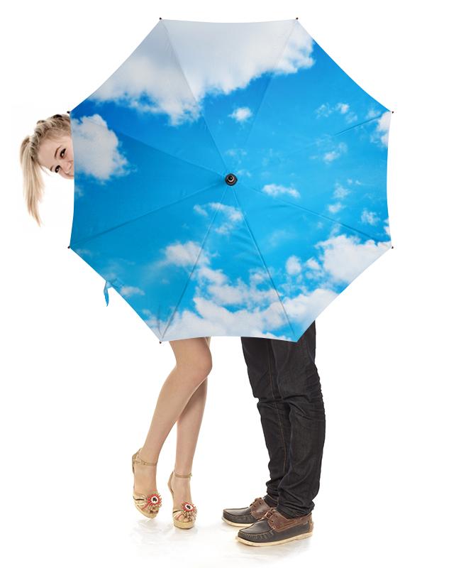 Зонт-трость с деревянной ручкой Printio Небо и облака картленд барбара звездное небо гонконга