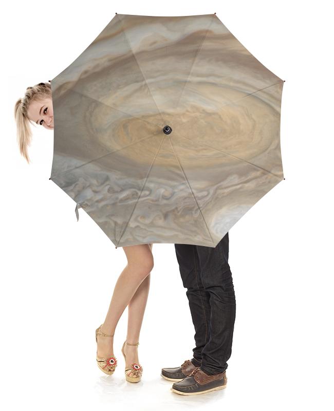 Зонт-трость с деревянной ручкой Printio Юпитер