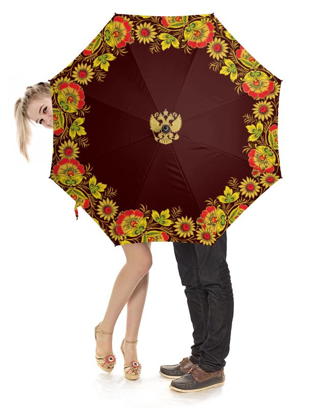 Зонт-трость с деревянной ручкой Printio Русский стиль вышивка русский стиль бабочка с пяльцами