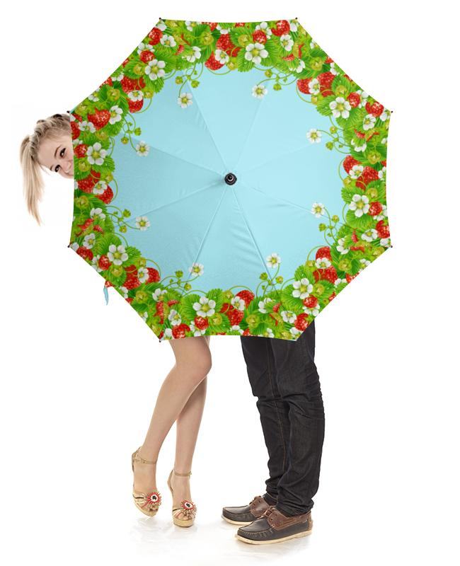 Зонт-трость с деревянной ручкой Printio Земляничная поляна куплю бу скания тягач с мордовии зубова поляна