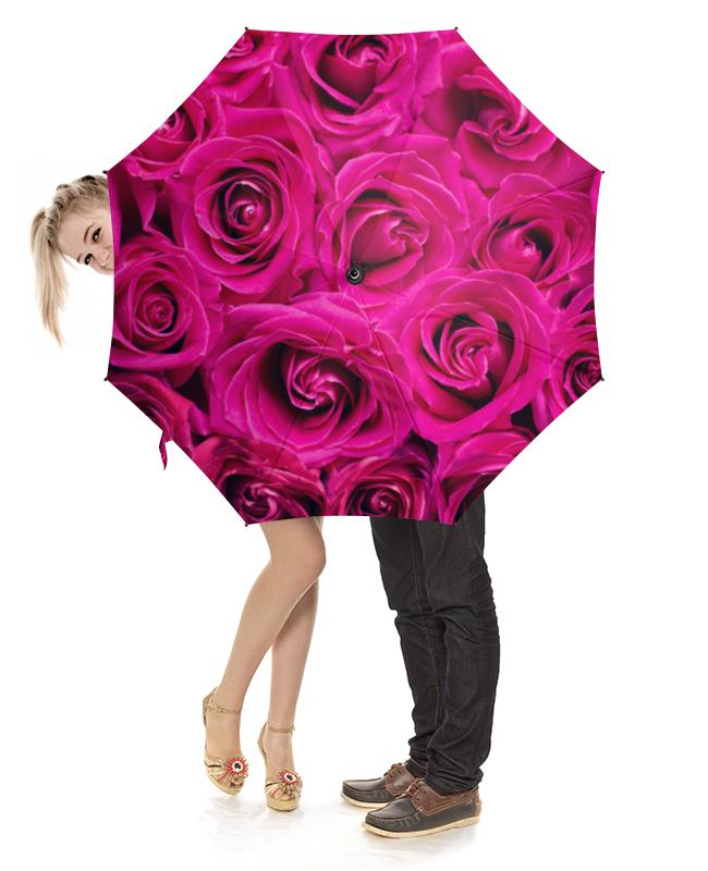 Зонт-трость с деревянной ручкой Printio Pink roses зонт зонт наоборот flower pink