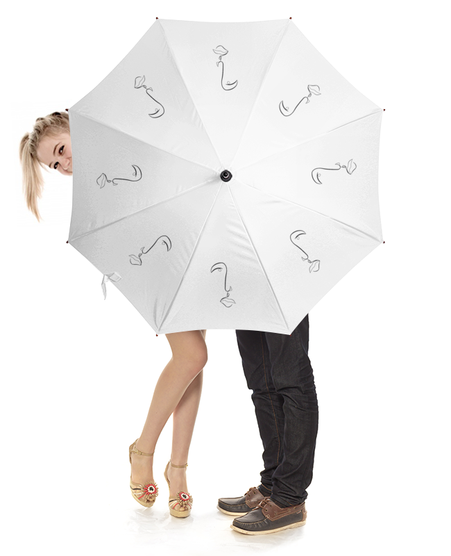 Зонт-трость с деревянной ручкой Printio Абстракция