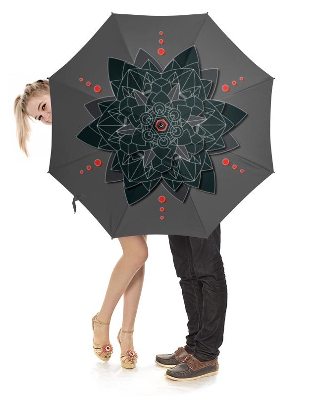 Зонт-трость с деревянной ручкой Printio Зонт-трость black sacred geometry зонт трость с деревянной ручкой printio black sails jolly roger