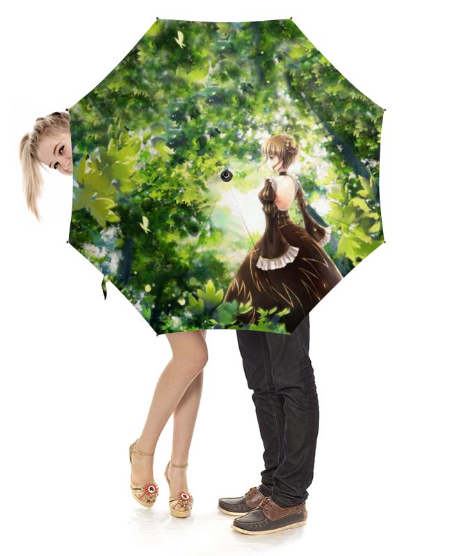 Зонт-трость с деревянной ручкой Printio Райский сад райский сад