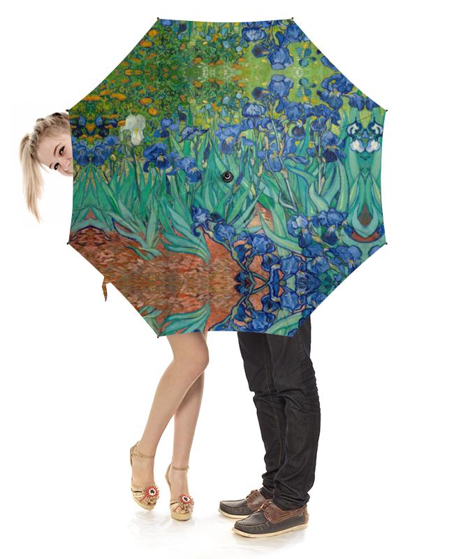 Зонт-трость с деревянной ручкой Printio Ирисы (винсент ван гог) складной зонт автомат по картине ван гога ирисы galleria