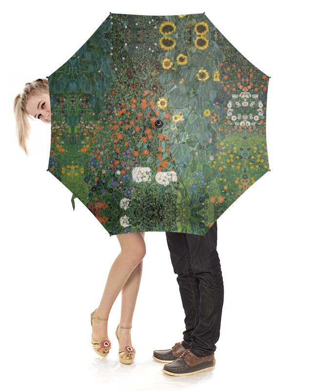 Зонт-трость с деревянной ручкой Printio Полисадник с подсолнухами (густав климт) тетрадь на скрепке printio полисадник с подсолнухами густав климт