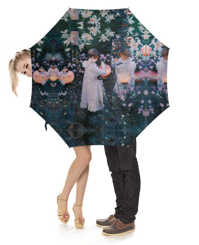 Зонт-трость с дереянной ручкой Printio , лилия, лилия, роза (джон сарджент)