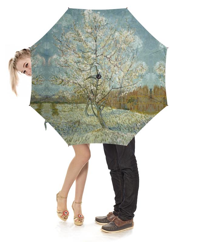Зонт-трость с деревянной ручкой Printio Персиковое дерево в цвету (ван гог) футболка с полной запечаткой женская printio персиковое дерево в цвету ван гог