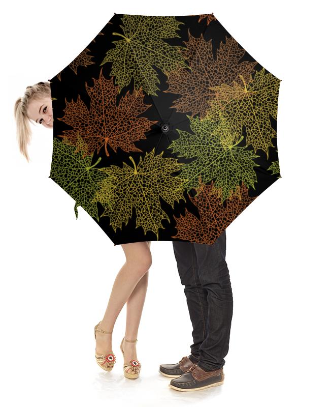 Зонт-трость с деревянной ручкой Printio Кленовые листья зонт трость с деревянной ручкой printio зонт ghostbusters