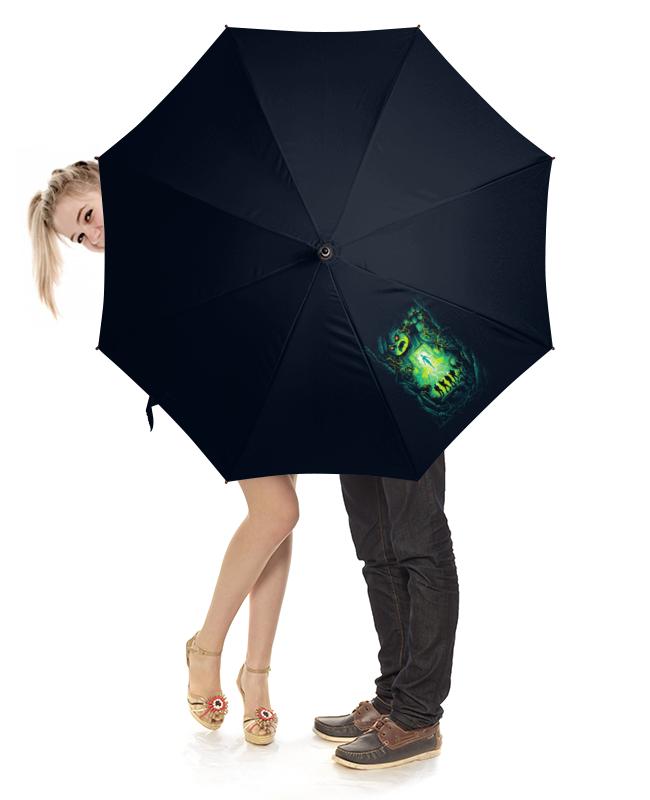 Зонт-трость с деревянной ручкой Printio Ghost busters