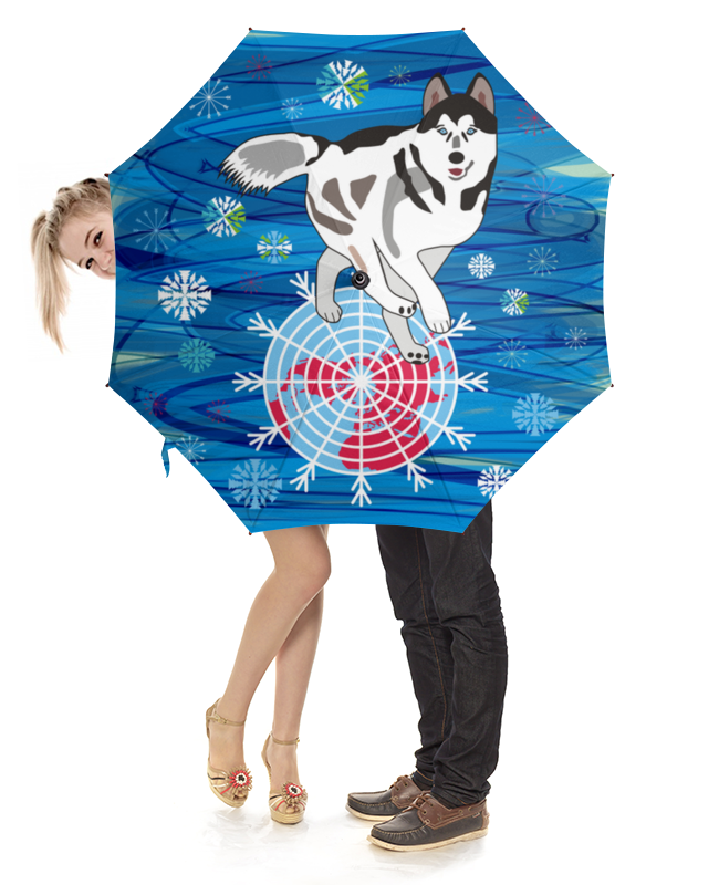 Зонт-трость с деревянной ручкой Printio Бегущая по снегам бегущая строка светодиодная дешево