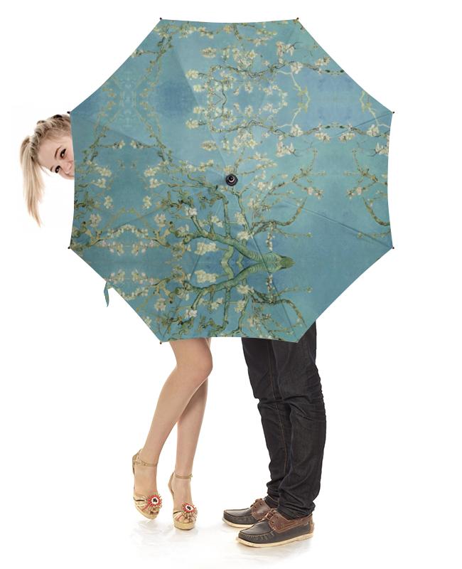 Зонт-трость с деревянной ручкой Printio Цветы миндаля (ван гог) блокнот в пластиковой обложке ван гог цветущие ветки миндаля формат малый 64 страницы арте