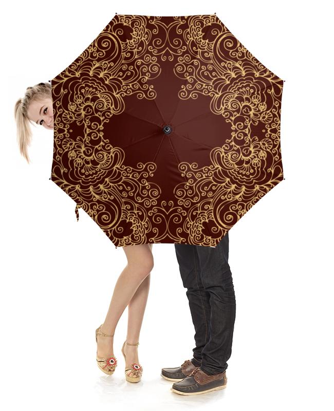 Зонт-трость с деревянной ручкой Printio Узорный зонт трость с деревянной ручкой printio узоры
