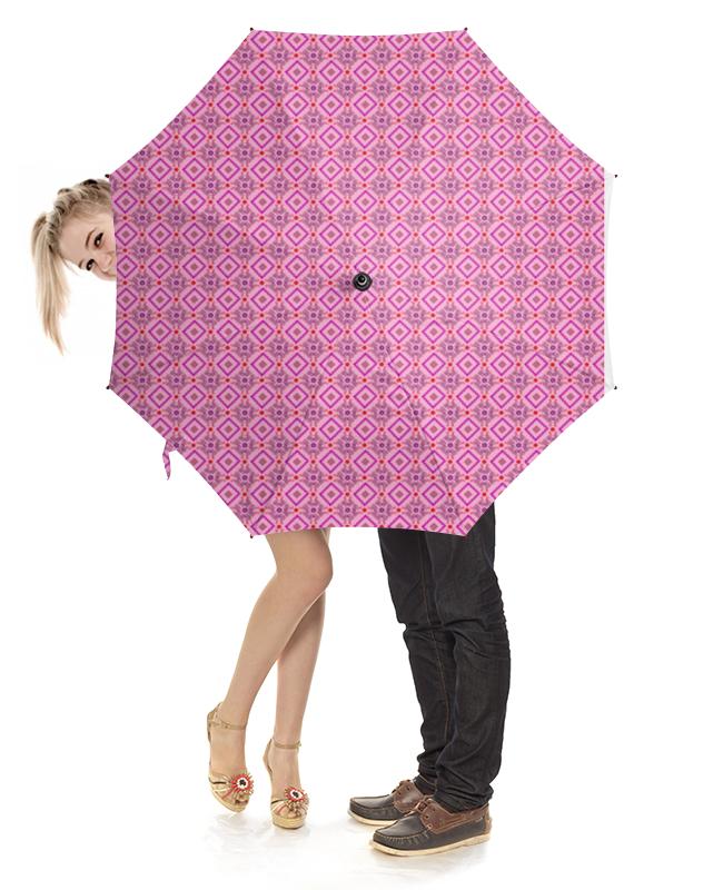 Зонт-трость с деревянной ручкой Printio Орнамент ромбы зонт трость с деревянной ручкой printio котики