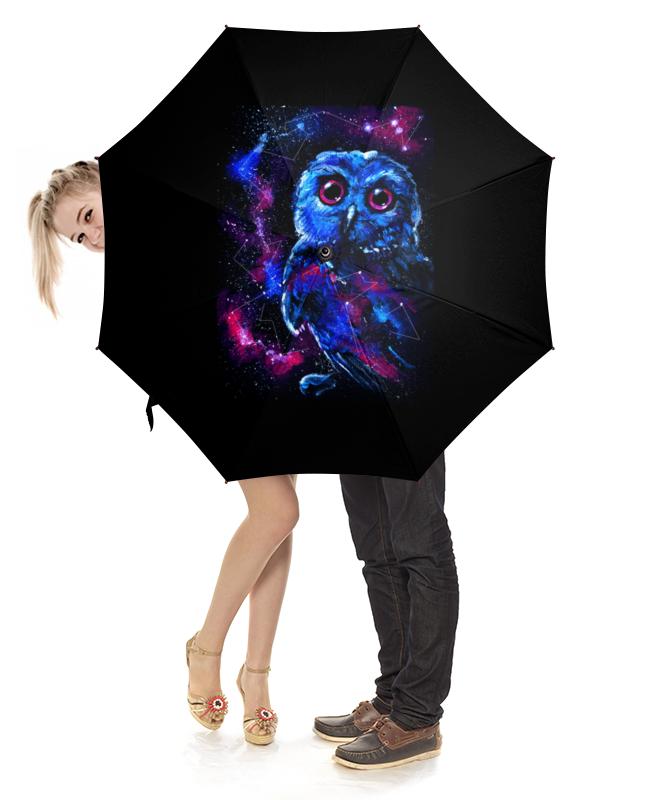 Зонт-трость с деревянной ручкой Printio Space owl зонт трость с деревянной ручкой printio space owl