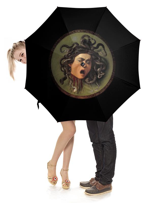 Зонт-трость с деревянной ручкой Printio Медуза (картина караваджо) караваджо