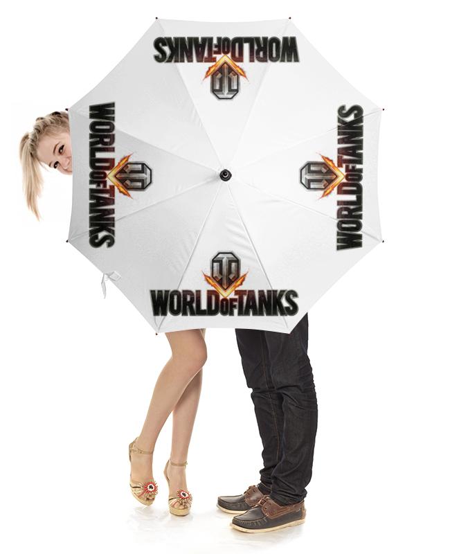 Зонт-трость с деревянной ручкой Printio World of tanks трость the world 12 e b 20 10