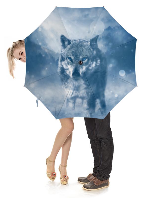Зонт-трость с деревянной ручкой Printio Волк с голубыми глазами холст 20х30 printio волк с голубыми глазами