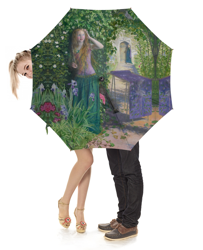 Зонт-трость с деревянной ручкой Printio Ярмарка розамунда (артур хьюз) артур конан дойл тайна клумбера