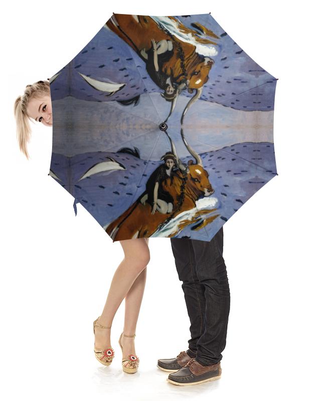 Зонт-трость с деревянной ручкой Printio Похищение европы (картина серова) серова м клад белой акулы