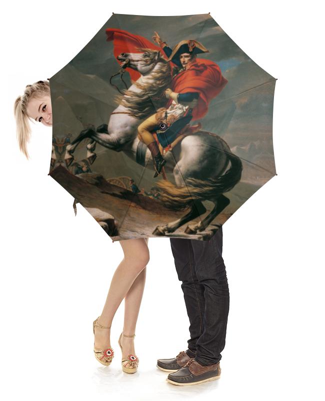 Зонт-трость с деревянной ручкой Printio Наполеон на перевале сен-бернар чехол для blackberry z10 printio наполеон на перевале сен бернар жак луи давид