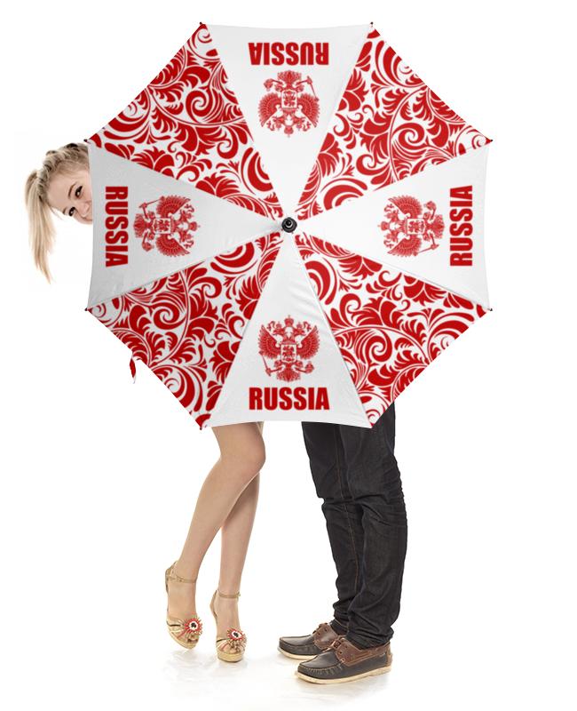 Зонт-трость с деревянной ручкой Printio Россия зонт трость с деревянной ручкой printio узорчиик